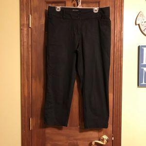 The Loft Curvy Crop black pants 8